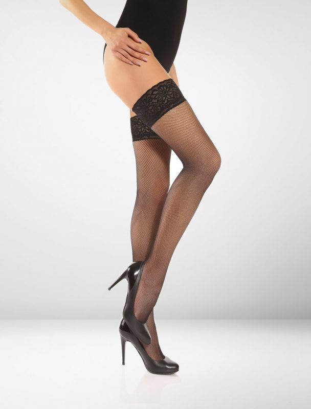 Messina Fishnet Hold Ups - Black