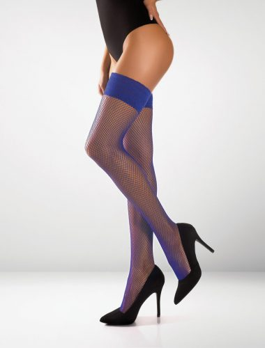 Messina Fishnet Hold Ups - Royal Blue