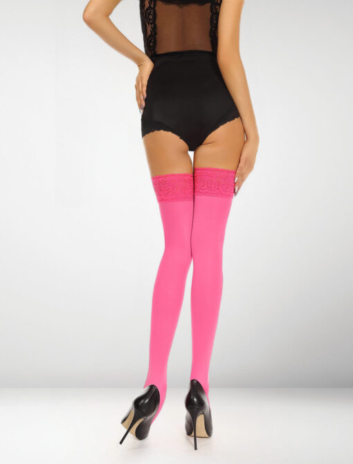 Asti 80 Denier Microfibre Hold Ups - Hot Pink