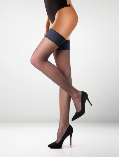 Milano 15 Denier Hold Ups - Black