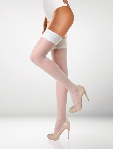 Milano 15 Denier Hold Ups - White